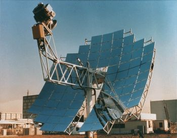 solar dish and engine